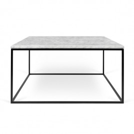 mesa Gleam 75 blanco negro