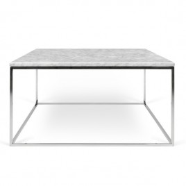 mesa Gleam 75 blanco acero