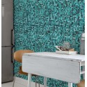 mural turquoise mosaic