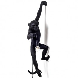 lámpara Monkey  hanging negra