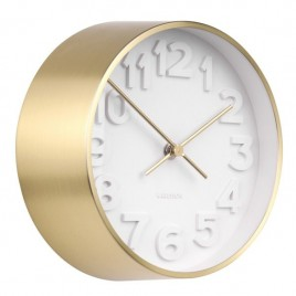 reloj de pared dorado Stout