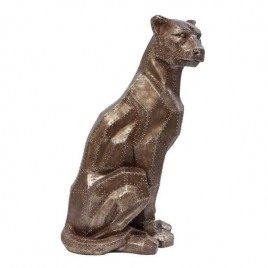 figura pantera Sitting Cat cobre
