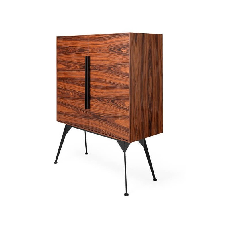 Mueble bar madera winston tiendas on for Bar de madera y fierro
