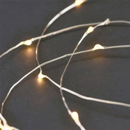 guirnalda luces led String plata 10m