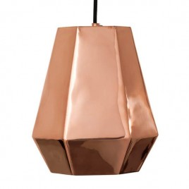 lámpara techo Hexagonal copper