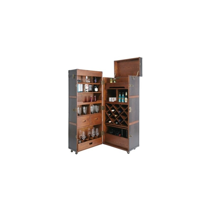 Mueble bar colonial tiendas on for Muebles para resto bar