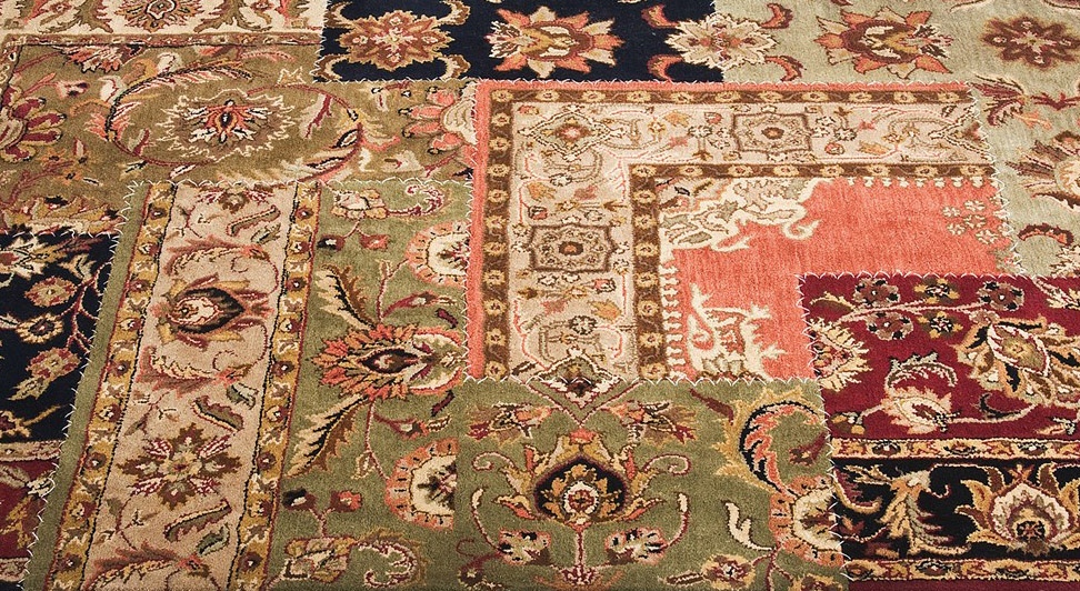 alfombra patchwork vintage persa on contract
