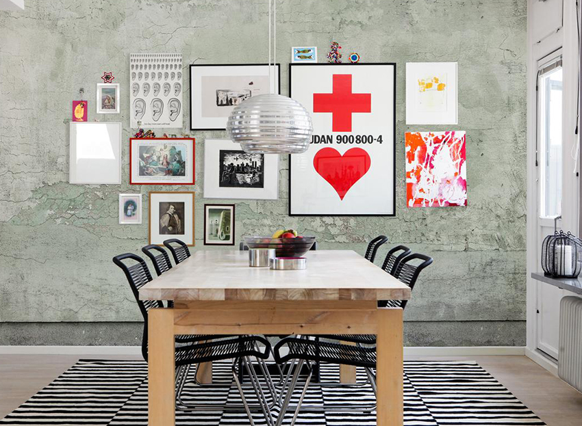 painted concrete wall