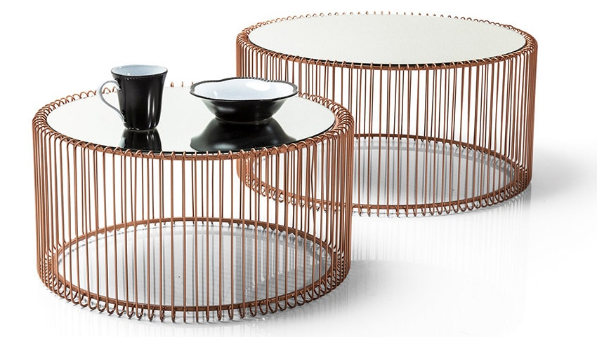 set mesas retro wire copper