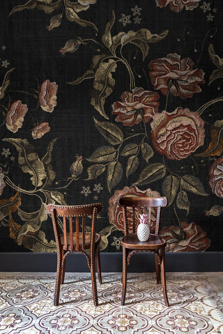 Mural Embroidery Flora Coordonne